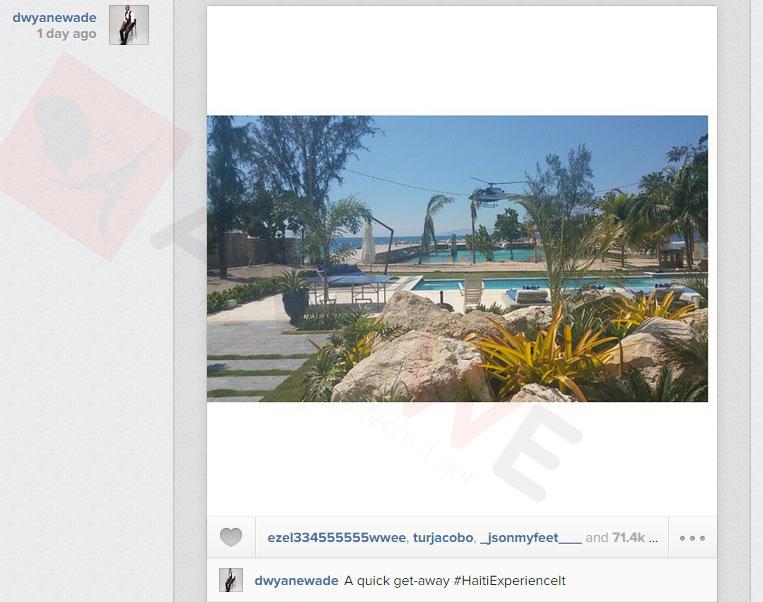 Me sa Dwayne Wade poste sou Instagram li, Mardi 17 Fevrier 2015