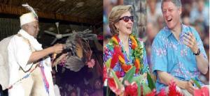 Haiti: Bill et Hillary Clinton en une cérémonie vaudou avec Max Beauvoir