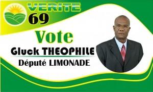 Haiti: Gluck Teophile, candidat à sa réélection dans Limonade/Quartier Morin