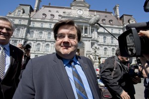 Liberal MP Denis Coderre arrives at Montreal City Hall to announce his intention to run as city mayor in Montreal on Thursday May 16, 2013. THE CANADIAN PRESS/Paul Chiasson
