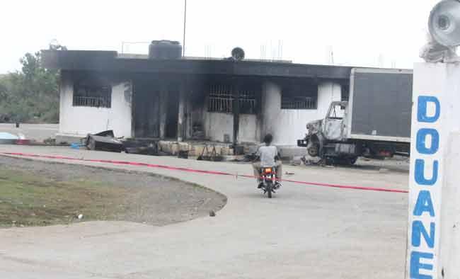 L'incendie de la douane de Terrier Rouge