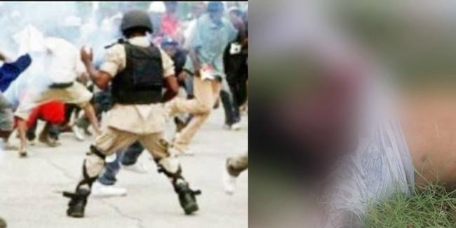 HAITI: Un jeune homme a été abattu de dos par la Police.