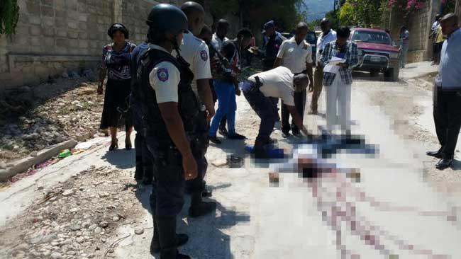Haiti: Un individu armé d'un pistolet appartenant à la PNH, abattu par des policiers