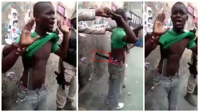 Haiti: Un manifestant armé de machettes accusant Jude Célestin arrêté ( VIDEO )