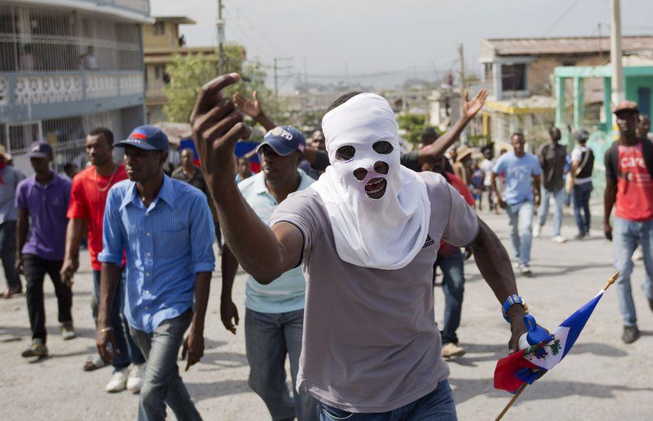 Haiti une nouvelle date pour le second tour est r clam e anmwe news - Manifestation a port au prince aujourd hui ...