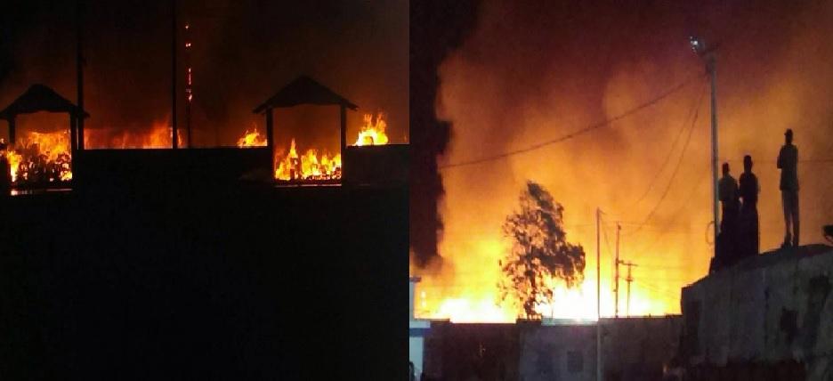 Haiti:  Le Marché Guerite de la Croix- des – Bossalles,  incendié