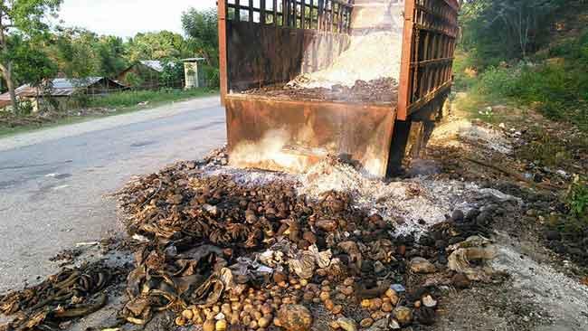 HAITI: Le camion qui avait foncé sur la bande de rara à Léogâne ( video )