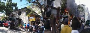 Haiti: Le célèbre hôtel de Pétionville Le Perroquet dévasté par un incendie