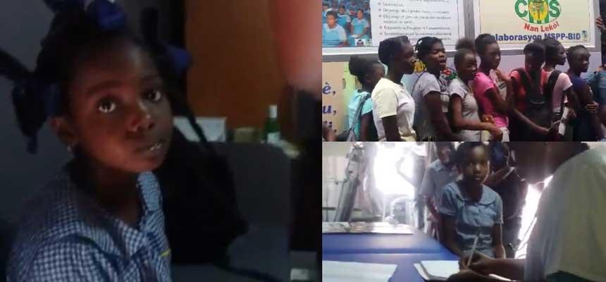HAITI: Clinique mobile scolaire débarque dans le nord ( video )