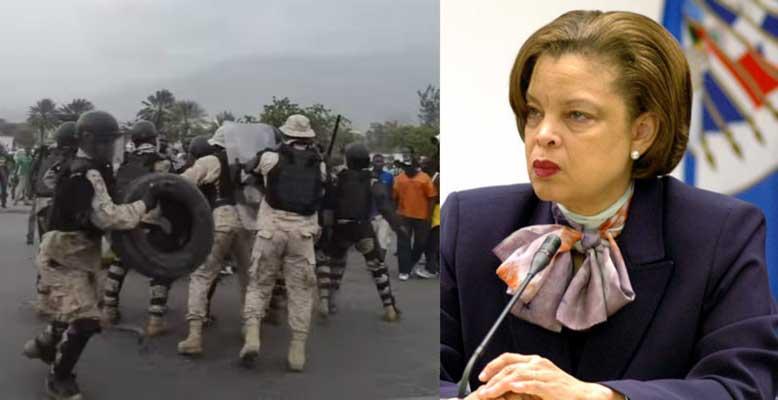 HAITI: Sandra Honoré condamne l'incident perpétré dans l'enceinte du parlement haïtien ( Videos)