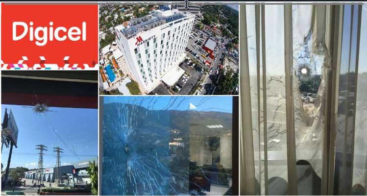 HAITI: Attaque armée contre les entreprises NATCOM, MARRIOTT, DIGICEL, BERMAN MOTORS, SOGEBANK