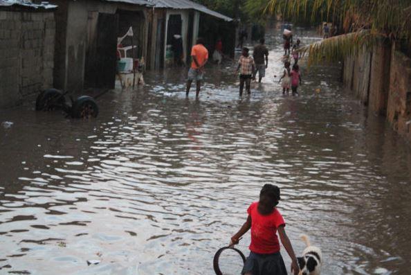 Inondation de la banlieue Village des Oliviers, à Ouanaminthe, le 14 juillet 2016| Jéthro-Claudel Pierre Jeanty| Nord-Est Info