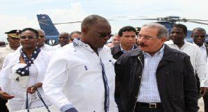 Haiti: Le président dominicain Danilo Medina  effectue une courte visite à Port-au-Prince