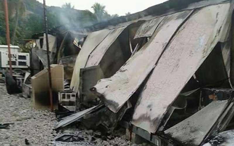 Haiti Élections: Des individus ont incendié le local de la Mairie de Marigot