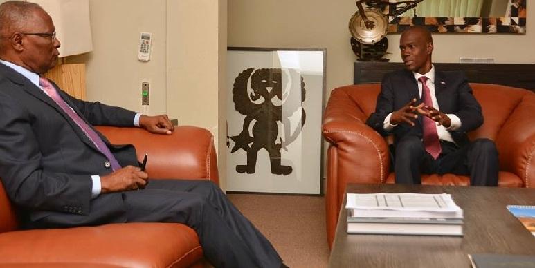 Haiti: Le Président Jovenel Moïse rencontre l'ex-Président Jocelerme Privert