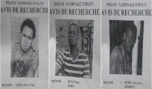 Haiti: La PNH demande de l'aide pour retrouver les trois malfaiteurs d'un viol collectif