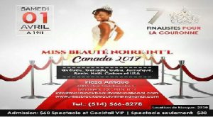 Monde: Miss Beauté Noire Internationale Canada 2017, une réalité