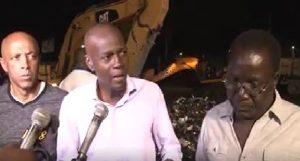 Haiti: Jovenel Moïse effectue une tournée nocturne sur plusieurs chantiers dans la Capitale
