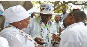 Haiti: Le Roi Daagbo Hounon Houna II, Chef suprême du vaudou, en tournée spéciale