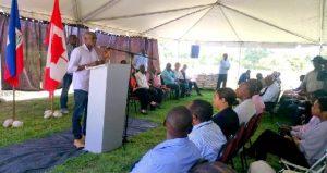 Haiti:  Lancement à Ganthier du projet « Pitimi Pa Pè Pichon »