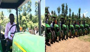 Haiti: Remise de tracteurs aux agriculteurs du Plateau central