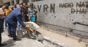 Haiti:  Lancement des travaux de réaménagement de l'ancien local de la Radio Nationale