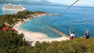 Haiti: Labadee parmi les meilleurs endroits au monde pour faire de la tyrolienne