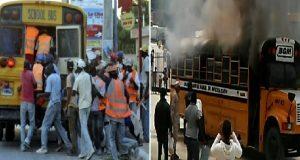 Monde: Un autobus dominicain qui rapatriait des migrants Haïtiens prend feu