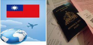Haiti: Sans Visa tous les citoyens haïtiens qui désirent passer moins de trois mois au Taiwan