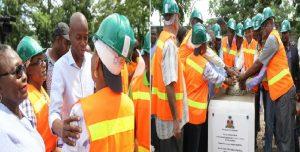 Haiti: Pose de première pierre de la construction d'un Centre de Germoplasme et de propagation végétale