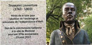 Monde:  Un buste de Toussaint Louverture à la Ville de Montréal pour son 375e anniversaire