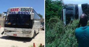 Haiti: Un autobus de la compagnie Sans Souci impliqué dans un accident