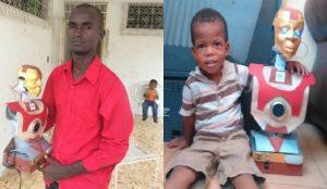 Haiti: Un compatriote fabrique un robot intelligent pour aider son fils à parler