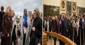 Monde: Rencontre des Premières Dames Martine Moïse et Brigitte Macron