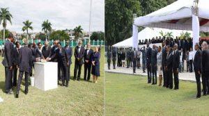 Haiti: Le Président Jovenel Moïse pose la première pierre de la construction du nouveau palais national