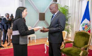 Haiti: L'ambassadeur des États-Unis a présenté ses lettres de créances au Président Jovenel Moïse