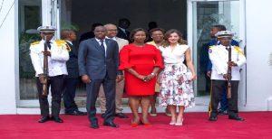 Haiti: Fin de la visite de sa Majesté reine d'Espagne Leitizia ORTIZ