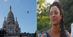 Monde: La funambule française marche à 35 mètres du sol vers la basilique du Sacré-Cœur
