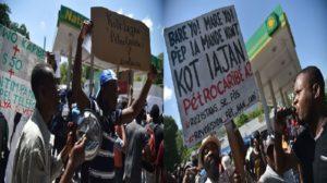 Haiti: Pierre Esperance, Arnel Belizaire, Eric Jean Baptiste chahutés au sit-in Kot Lajan Petro Karibe a?
