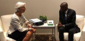 Monde: Rencontre bilatérale entre le Président Jovenel Moise et la Directrice générale du FMI