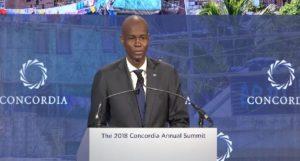 Monde: Allocution du Président Jovenel Moïse au Sommet Annuel Concordia 2018