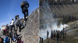 Monde: Des centaines de migrants désespérés tentent de franchir la frontière américano-mexicaine