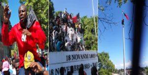 Haiti: Le leader de Pitit Dessalines et ses sympathisants  hissent  le drapeau noir et rouge à Vertières