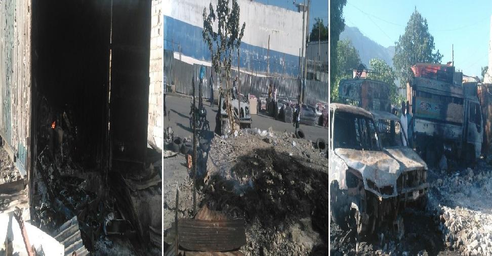 Haiti: Enormes dégâts matériels suite à un incendie à la rue Champ de Mars au centre ville