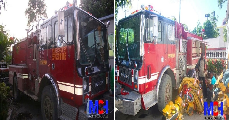 Haiti: Don d'un camion de pompiers par la communauté haïtienne de Minnesota à la Mairie du Cap-Haïtien