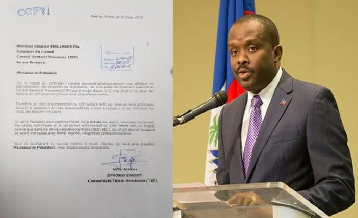 Haiti: Le directeur exécutif du Conseil Électoral Provisoire (CEP) Uder Antoine démissionne