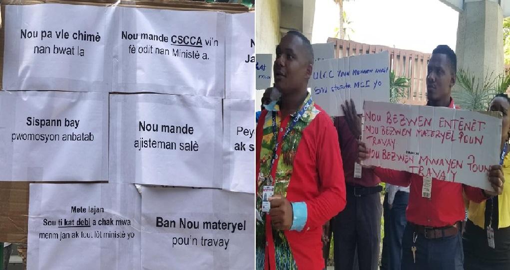 Haiti: Mouvement de protestation des employés du Ministère du Commerce et de l'Industrie