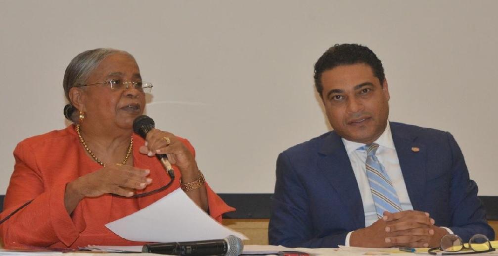 Haiti:  Myrlande Manigat et Jerry Tardieu en conférence  à l'auditorium de la faculté de médecine