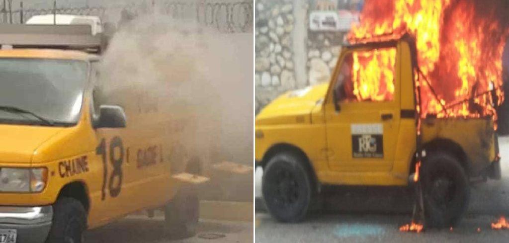 Haiti: Des véhicules de Radio Télé Ginen incendiés