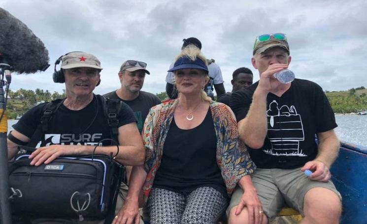 Monde: L'actrice britannique Joanna Lumley en Haïti pour un tournage